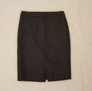 J.crew gray wool pencil skirt size 4 lined